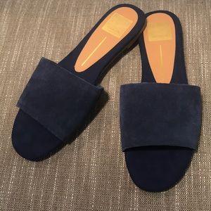 {Dolce Vita}  NWOT Navy suede slide sandals